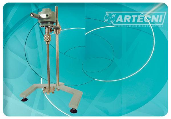 Motor pneumático para aplicação em misturador de laboratório