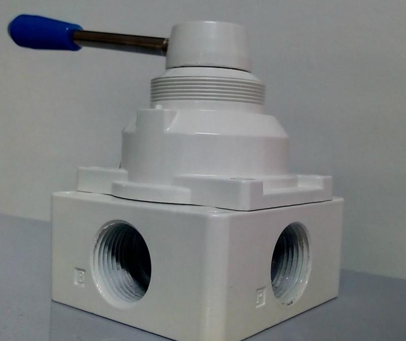 Válvula de controle pneumática rotativa